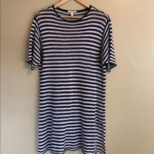 Eileen Fisher | Striped Linen Knit Dress | Small S